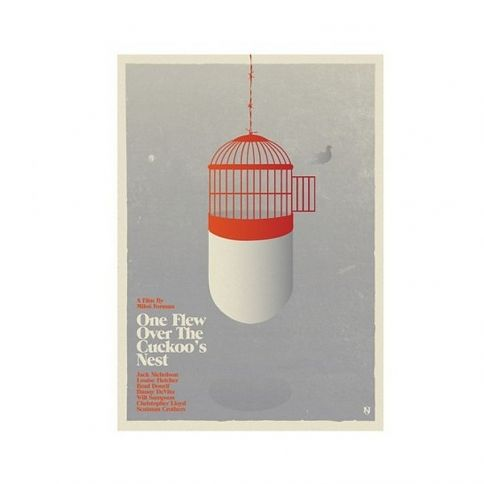 One Flew Over The Cuckoos Nest Juliste by Needle Design