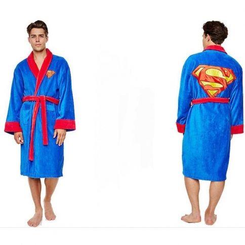 Superman fleece bathrobe for Bureau 39 superman