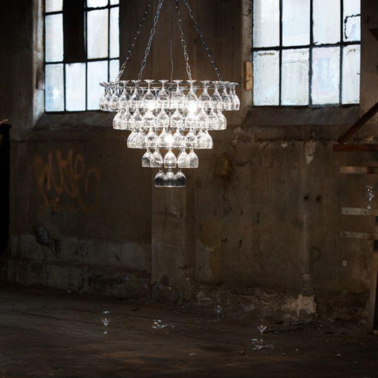Wine glass chandelier pulju wine glass chandelier aloadofball Image collections