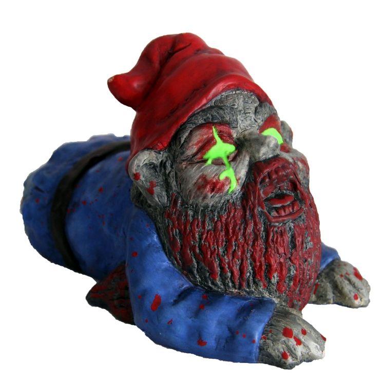 Gnome In Garden: Zombie Crawler Garden Gnome